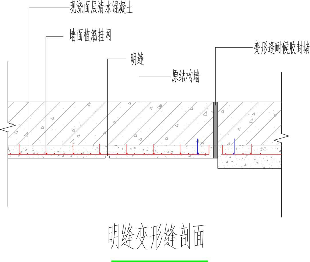2设计大样及依据      施工工艺:放线定位→原结构基面凿毛处理→植筋